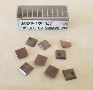 9 Pcs Carboloy 06529 135 047 Cb Square Lathe Carbide Inserts Cutting Tools