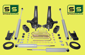 01 10 Ford Ranger 2wd 5 5 Lift Kit Spindles blocks shackles fr Spacer 4 Shocks