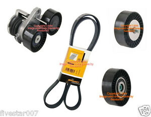 Serpentine Belt Ina Tensioner 2 Idler Pulley Kit For Bmw 535i 535xi See Fitment