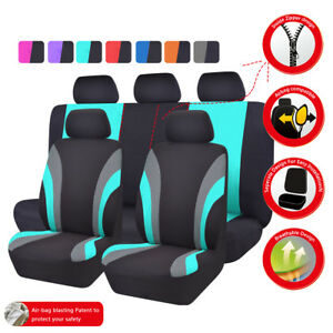 New 11pcs Automobile Universal Fit Car Seat Covers 40 60 50 50 Split Mint Color