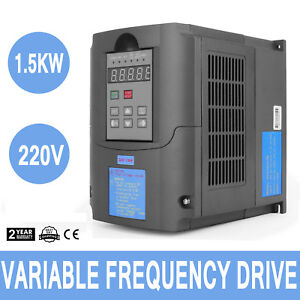 1 5kw 2hp 220v Variable Frequency Drive Inverter Cnc Vfd Vsd Single To 3 Phase