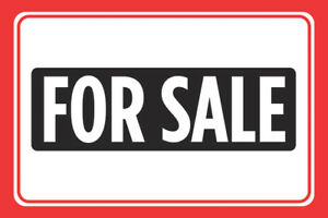 For Sale Print Red Signs Sell Window Poster Real Estate Car Auto Sign 4 Pk 12x18