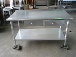 Used Stainless Steel Work Table 60 X 30