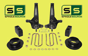 2001 2010 Ford Ranger 2wd 7 4 Lift Kit Spindles Coil Spacers Rear Blocks