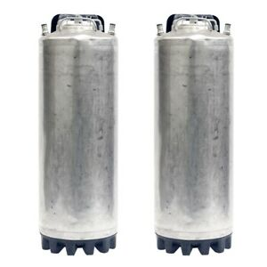 5 Gallon Ball Lock Two Pack Kegs Reconditioned Class 2 Beer Free Shipping