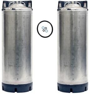 5 Gallon Ball Lock Two Pack Kegs Reconditioned Class 3 Beer Free Shipping