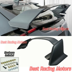 Type R Style Rear Trunk Spoiler Wing Abs Fits 17 19 Civic 5dr Hatchback