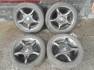 02 08 Mini Cooper 5 Spoke 16 Inch Rims Wheels W Tires And Center Caps Black Oem