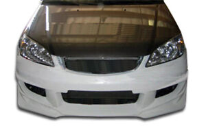 Duraflex Bomber Front Bumper Cover 1 Piece For 2004 2005 Civic 2dr 4dr