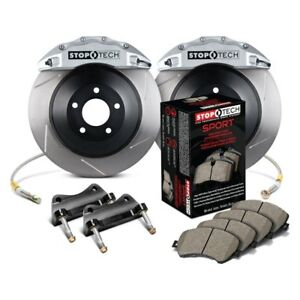 Stoptech Rear Big Brake Kit Silver Calipers Slotted Rotors For 06 09 Bmw M5 M6