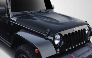 Carbon Creations Power Dome Hood 1 Piece For 2007 2018 Wrangler