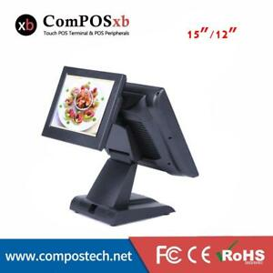 Commercial Pos System Restaurant Equipment Resistive Touch Screen 15 Inch Tft Le