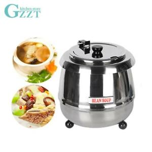 Commercial Soup Kettle Pot Warmer Boiler Wet Heat Warming Equipment Buffet Resta