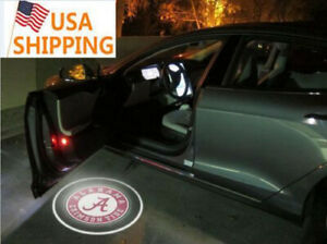 Wireless Led Car Door Light Alabama Crimson Tide Ncaa Logo Laser Projector Lamp