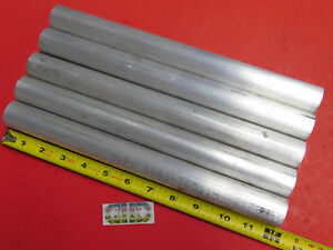 5 Pieces 1 1 4 Aluminum 6061 Round Rod 12 Long Solid T6511 Lathe Bar Stock