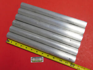 6 Pieces 1 3 16 Aluminum 6061 Round Rod 12 Long T6511 Solid Bar Stock 1 19