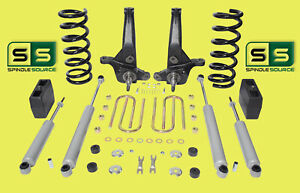 01 10 Ford Ranger 2wd 7 5 Lift Kit 4 Cyl Spindles coils lift Blocks 4 Shocks