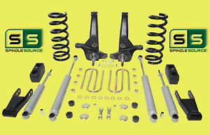 01 10 Ford Ranger 2wd 7 5 Lift Kit 4cyl Spindles coils blocks shackle 4 Shocks