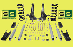 01 10 Ford Ranger 2wd 6 4 Lift Kit 6 Cyl Spindles Coils Blocks Shackle 4 Shock