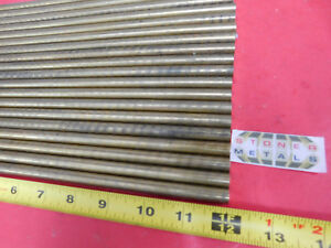 100 Pieces 7 16 C360 Brass Solid Round Rod 12 Long New Lathe Bar Stock H02