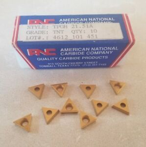 Anc Tpgh 21 51a Tnt Lathe Mill Carbide Inserts 10 Pcs