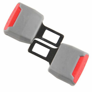 2pcs Safety Seat Belt Buckle Extension Extender Clip Grey Universal For All Car