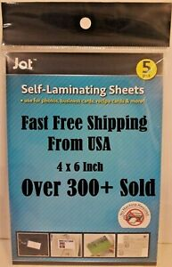 5 Pack Of Easy Self Laminating Sheets 4x6 No Tools Needed Free Ship For Id Card