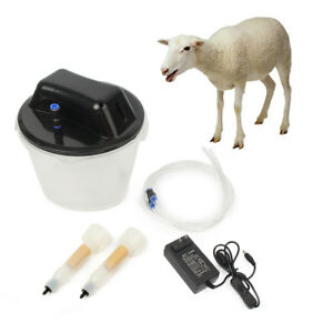 5 5l Electric Farm Milking Machine Goat Milker Portable Vacuum Barrel 2 Teat