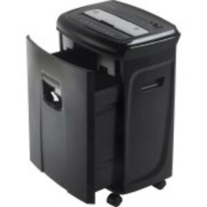 Paper Card Shredder Cutting 12 Sheet Crosscut With Pullout Basket Led Indicator