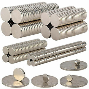 Us 5 100pcs Super Strong Round Block Cylinder Disc Magnets Rare earth Neodymium