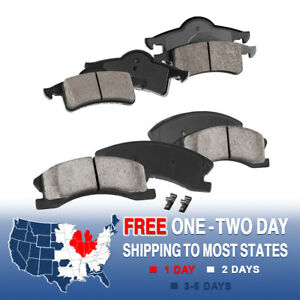 Front And Rear Ceramic Brake Pads For 1999 2000 2004 Jeep Grand Cherokee