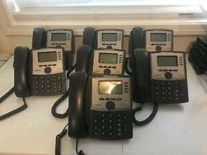 Lot Of 7 Cisco Linksys Spa942 4 line Ip Business Office Phone W Stand No Cord