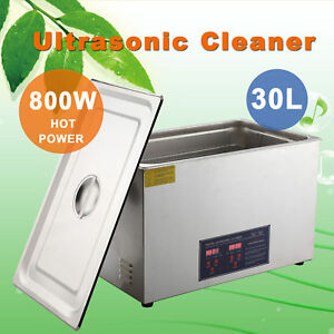 30l Digital Ultrasonic Jewelry Cleaning Cleaner Machine With Heater Timer