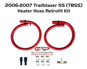 Red Silicone Heater Hose Kit For 2006 2009 Trailblazer Ss Tbss 6 0l