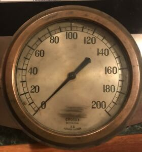 rare Crosby Steam Gauge 10 Antique Industrial Collection Steampunk Age Works