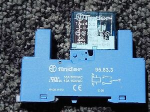 Finder Relay 40 31 Base 95 83 3 24 Volt dc