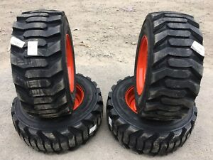 4new 31 5x13 16 5 Skid Steer Tires wheels rims For Bobcat for 10 16 5 Floatation