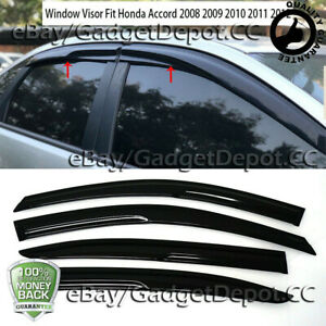For 2008 2009 2010 2011 2012 Honda Accord Window Visor Vent Rain Deflector