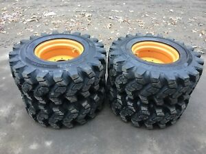 4 New Hd 14 17 5 Camso Sks753 Skid Steer Tire wheels rims For Case 50 32nd Tread