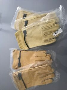 Gemplers Full Leather Work Gloves Size Large 5pr Brand New