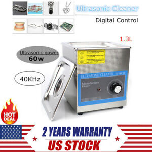1 3l Dental Ultrasonic Cleaner Cleaning Machine Digital Timer Basket Sale Us