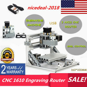 Mini 3 Axis Usb Cnc 1610 Engraving Router Milling Machine 500mw Laser Head