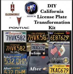 Diy California Legacy License Plates Buick Oldsmobile Pontiac