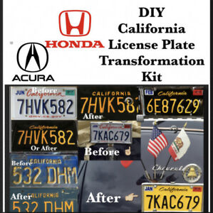 Diy California Legacy License Plates Honda Acura