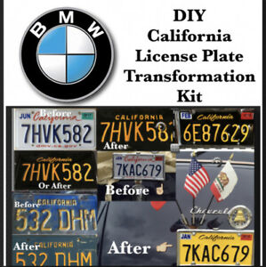 Diy Califirnia Legacy License Plates Bmw