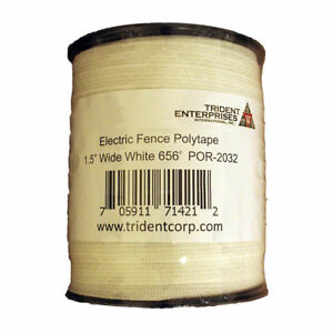 White Polytape Electric Fence Horse Deer 1 5 Wide 656