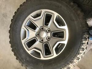 2015 Jeep Wrangler Wheel And Tire Package Rubicon 17 Oem Factory Wheels