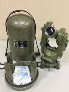 Wild Heerbrugg T1a Theodolite Survey Transit With Bullet Case