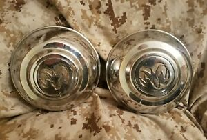 1994 1995 1996 Dodge Dakota Oem Chrome Wheel Center Caps Mopar Set Of 2