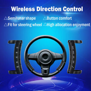 Add Steering Wheel Remote Control Wireless Vol Ch Mute Mode Button Universal